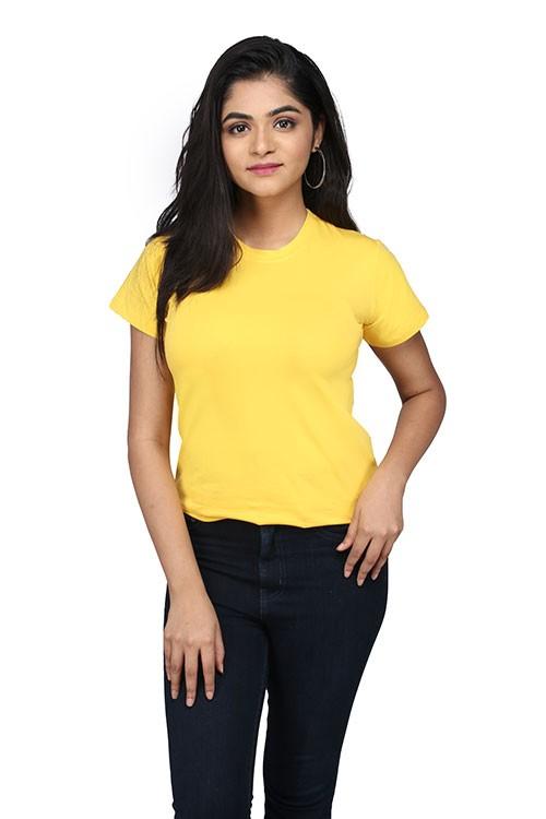 Queen's R-Neck Plain T-Shirt